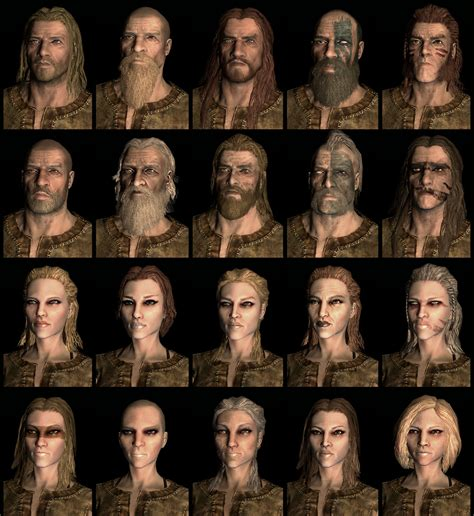 skyrim human hair styles a gallery that proves character creation in skyrim doesn t