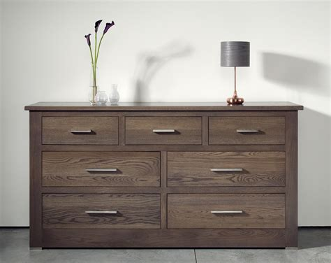 quercus oak 4 3 wide chest of drawers con tempo