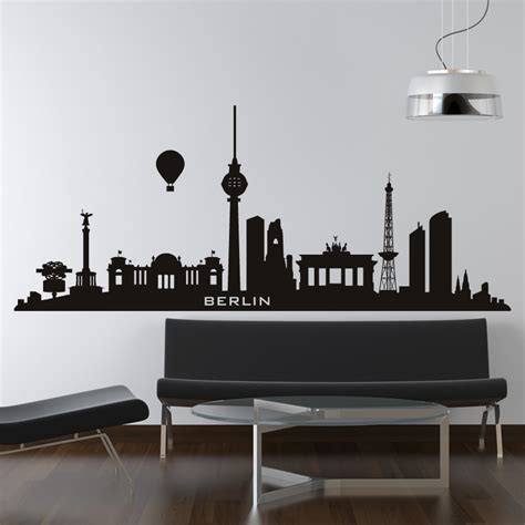 skyline wall stickers berlin germany skyline cities wall decal wall stickers