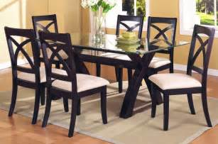 dining table set glass top kitchen