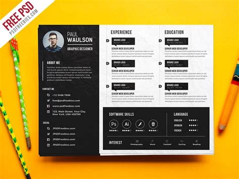 creative curriculum vitae psd 71 best inspiration cv images on pinterest resume design