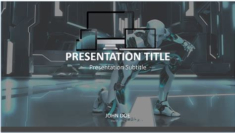 robot powerpoint template robot powerpoint template 7964 free powerpoint robot