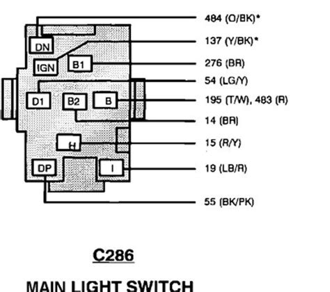 1994 ford ranger headlight switch wiring diagram 48