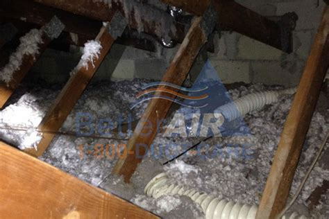 crawl space cleaning san francisco attic cleaning plastic dryer vent filled with lint and