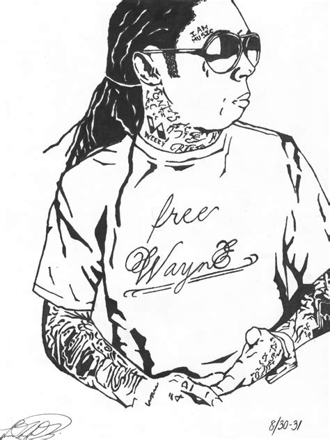Lil Wayne Free Coloring Pages Lil Wayne Coloring Pages