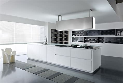 kitchen with white cabinets and built in modern kitchen white kitchens