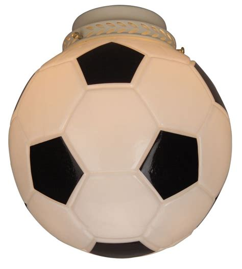 soccer ceiling fan craftmade 406 4 quot glass soccer ball glass shade for