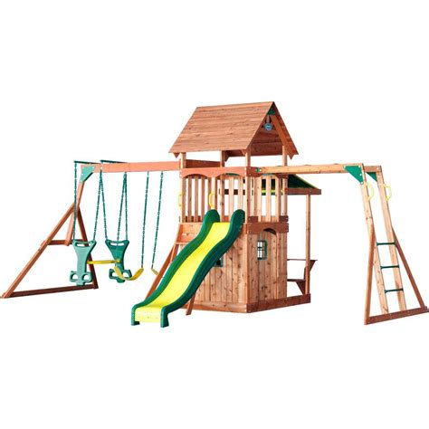 cedar backyard playsets backyard discovery saratoga all cedar playset 30011com
