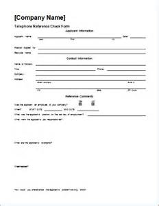 telephone reference check form template word document hub