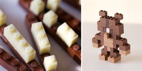chocolate lego bricks  kids   eat