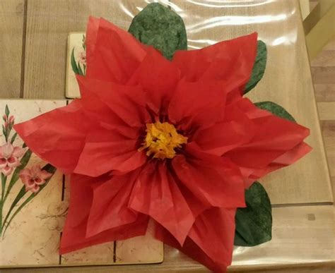 christmas decorations with tissue paper 1x large 43cm poinsettia tissue paper flower pom pom wedding tissue paper