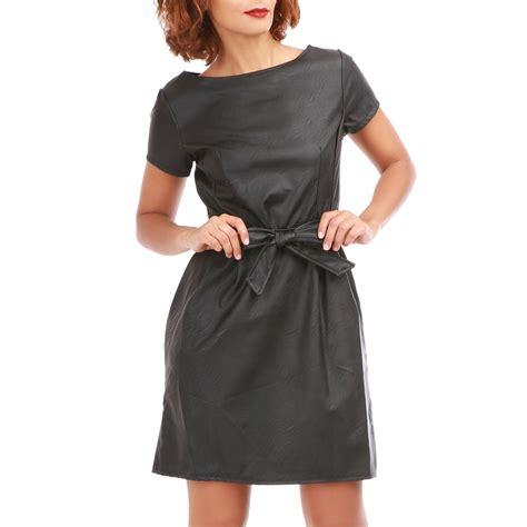 Robe Simili Cuir Noir Mango - robe noir en simili cuir robes de soir 233 e site photo