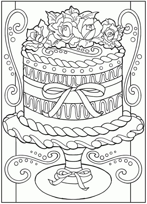 coloring pages for dessert coloring home