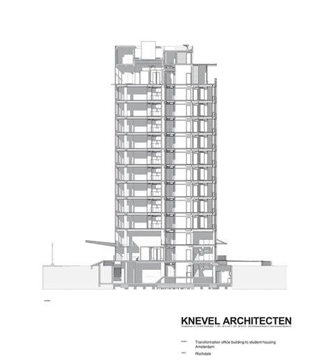 section 8 headquarters student housing in elsevier office building knevel