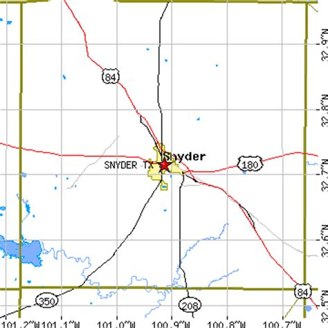 map of snyder texas snyder texas tx population data races housing economy