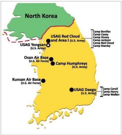 us air bases in korea map ig reports hundreds of housing code violations on us bases
