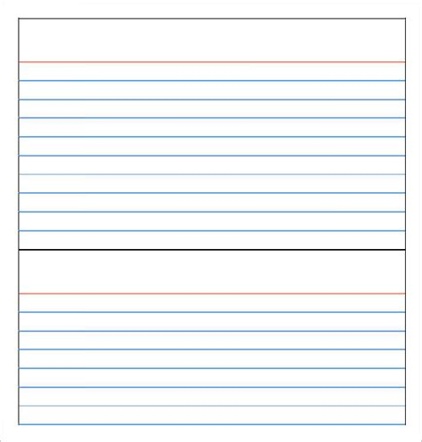printable blank note card template 10 sle note card templates to sle templates