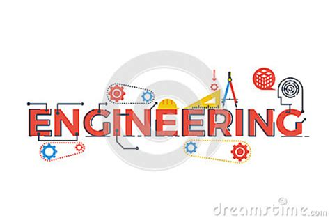 typography stem engineering word illustration stock vector image 70741068