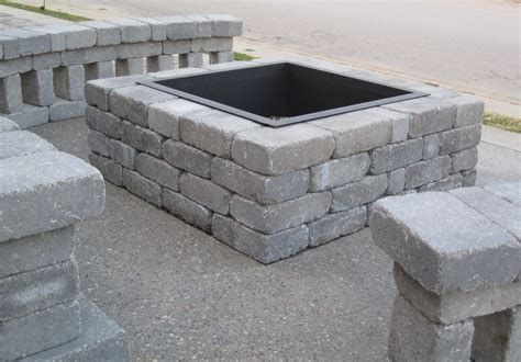 Cinder Block Pit Inexpensive And Attractive Ideas Outdoor Simple Design Of Cinder Block Pit For Outdoor Inspiration