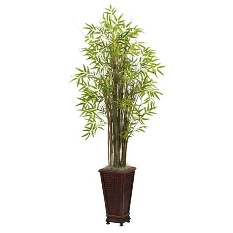 Bamboo Planters by 5 5 Grass Bamboo Silk Plant With Decorative Planter