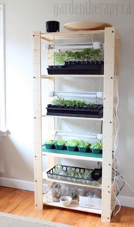 grow light shelf set   seed starting indoors garden