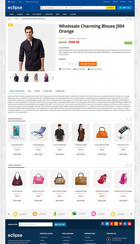 eclipse theme woocommerce eclipse responsive multipurpose prestashop theme by