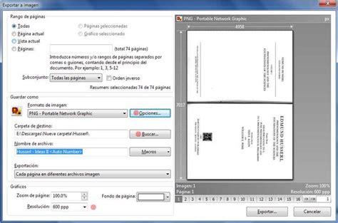 imagenes a formato pdf c 243 mo procesar im 225 genes o archivos pdf para hacer un libro