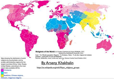 map world religions innovative maps of world religion geocurrents