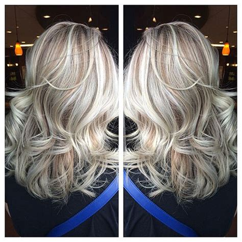 silvery blonde highlights silver blonde highlights with natural dimension