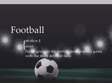 Football Powerpoint Slides Football Soccer