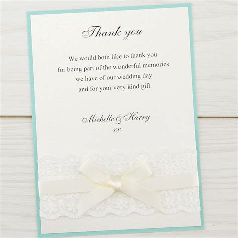 thank you card for wedding invitation embroidered lace thank you card invitation wedding