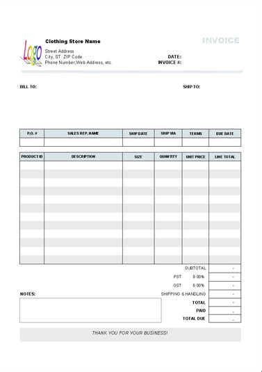 retail invoice template retail invoice template free to do list