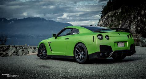 nissan green green nissan gt r velgen wheels