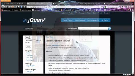 tutorial dreamweaver jquery html slideshow diaschau mit jquery tutorial f 252 r