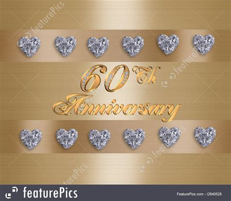 Cards And Posters: 60Th Anniversary   Stock Illustration