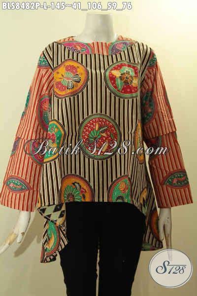 Atasan Batik Belakang baju batik atasan untuk wanita til gaya blouse halus