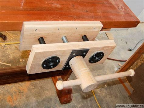 woodwork bench vice homemade woodworking vise shop pinterest woodworking