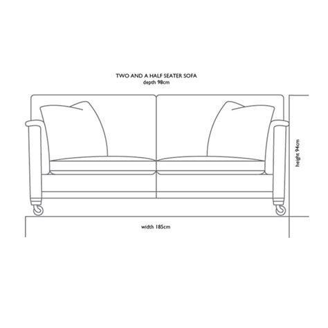 sofa size two seater sofa dimensions images
