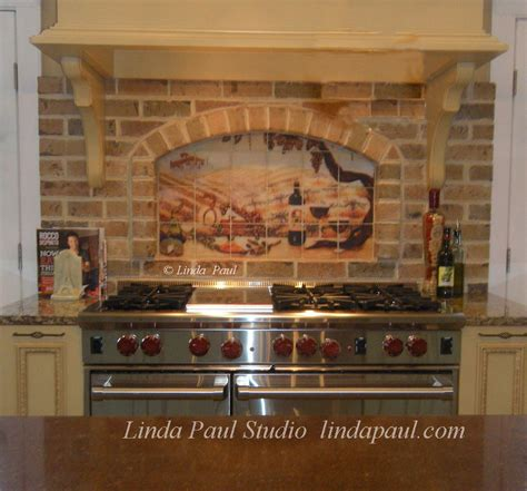 kitchen backsplash installation vineyard kitchen backsplash arched niche installation