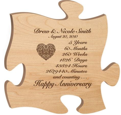 Wedding Anniversary 5th by Personalized 5th Anniversary Gift For Him Fifth