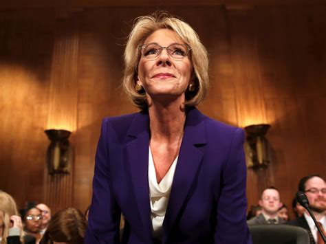 betsy devos business betsy devos would not rule out withholding funds from