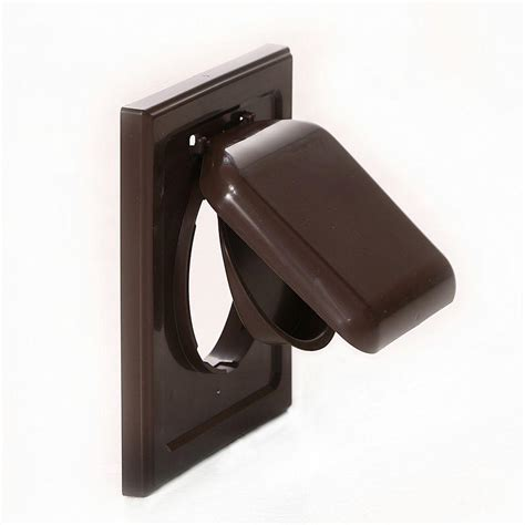in wall vent fan no pest vent 4 in wide mount dual door wall vent in brown