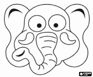 elephant mask coloring pages animal masks coloring pages printable games 2
