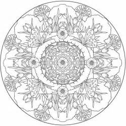 butterfly mandala to color from nature mandalas coloring