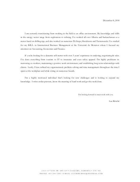 brief email cover letter cover letter luc winter 2015