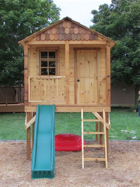 playhouse shed plans recently completed elevated playhouse custom shed builder