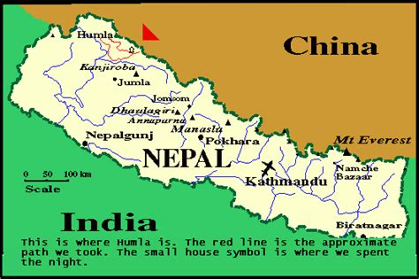 Map Nepal by Himachal Pradesh The Best Tourism Destinations In The