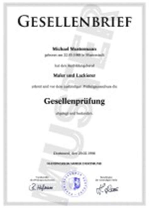 Kfz Lackierer Hannover by Gesellenbrief Einfach Kaufen Gesellenbrief