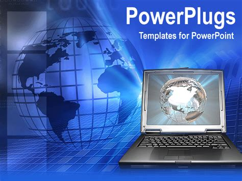 powerpoint animated templates free a globe with laptop animated powerpoint template