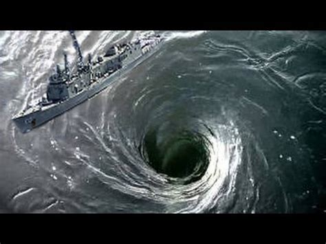 Whirlpool In Sinks Ship warship narrowly escaping clutches of whirlpool